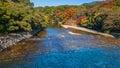 Isuzu river at ise jingu naiku ise grand shrine inner shrine that runs through Royalty Free Stock Photography