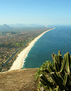 Itaipuacu beach view of the Mourao Mountain top Stock Photos