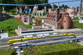 Italia in miniatura train station famous thematical park rimini italy with over miniatures of most popular buildings of italy Royalty Free Stock Image