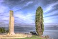 Italian air force stone the commemorative monument to died airmen at vigna di valle on the bracciano lake near rome italy Royalty Free Stock Images