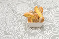 Italian almond biscuits Biscotti Royalty Free Stock Photo