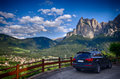 Italian Alps - Alpe di Siusi town landscape Royalty Free Stock Photo
