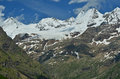 Italian alps from left to right tete blanche tete valpelline dent d herens in the above aoste Royalty Free Stock Photo