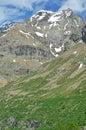 Italian alps punta fontanella in the valpelline valley above aoste Stock Photo