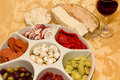 Italian Antipasto Tray Royalty Free Stock Image