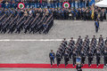 Italian army air force commemoration denfense minister Stock Image