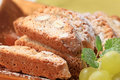 Italian biscotti detail of traditional almond Royalty Free Stock Image