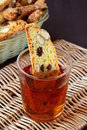 Italian biscotti with red wine Stock Photo