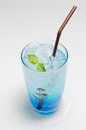 Italian blue soda colorful sodas Royalty Free Stock Image