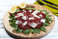 Italian bresaola Royalty Free Stock Images