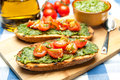 Italian bruschetta tasty mediterranean traditional cuisine Royalty Free Stock Photo