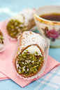 Italian cannoli sweets Royalty Free Stock Photo