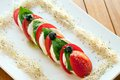 Italian caprese salad. Royalty Free Stock Images