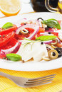 Italian caprese salad with mozzarella Stock Image