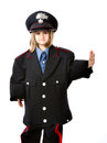 Italian carabiniere stop gesture Royalty Free Stock Photo