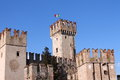 Italian castle in sirmione on the sea Royalty Free Stock Images
