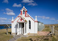 Italian chapel orkney nissen hut converted into an ornate church by prisoners of war during world war Stock Photography