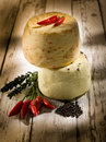 Italian cheese with hot chili Royalty Free Stock Images