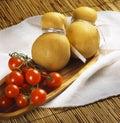 Italian cheese provola Royalty Free Stock Photo