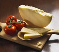 Italian cheese provolone Royalty Free Stock Images