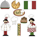 Italian Chef Graphics 1 Royalty Free Stock Photos