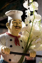Italian chef statue Royalty Free Stock Photography