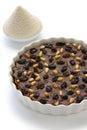 Italian chestnut cake chestnut flour castagnaccio farina di castagne Royalty Free Stock Images