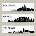 Italian cities - skylines - illustration