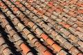 Italian Clay tiles Royalty Free Stock Photo