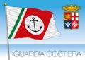 Italian Coast Guard flag, Marina Militare, Italy