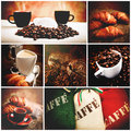 Italian coffee set of picture Royalty Free Stock Photography