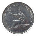 Italian coin Royalty Free Stock Photo