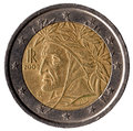 Italian coin of 2 euros Royalty Free Stock Photo