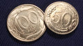 Italian coins 100 and 50 lire Royalty Free Stock Photo