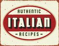 Italian Cooking Vintage Tin Sign