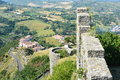Italian countryside and ruins a picturesque view of an county side old Stock Photo