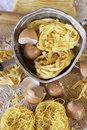 Italian Cuisine, tagliatelle Egg Pasta Stock Photo