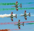 Italian demoteam Frecce Tricolori Stock Photo