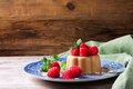 Italian dessert coffee panna cotta Royalty Free Stock Photo