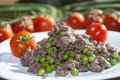 Italian diet peas minced meat Stock Photos
