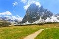 Italian dolomites landscape. Royalty Free Stock Photo