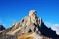 Italian Dolomiti mountain peak in Belluno province Royalty Free Stock Photo