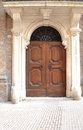 Italian door in urbino italy Stock Photo