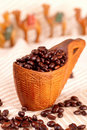 Italian espresso blend coffee beans Royalty Free Stock Photo