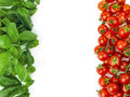 The italian flag made up of fresh vegetables green white and red Royalty Free Stock Image