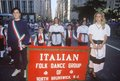 Italian Folk Dance Group Marching in Columbus Day Parade, New York City, New York