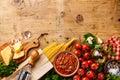Italian food background Royalty Free Stock Photo