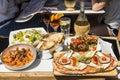 Italian food and beveridge Rome Royalty Free Stock Photo