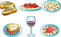 Italian Food icons Royalty Free Stock Images