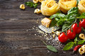 Italian food ingredients. Royalty Free Stock Photo